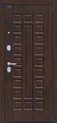 Входная дверь el'Porta Porta S 51.П61 Almon 28/Wenge Veralinga (98x205, правая)