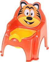 Детский горшок Doloni Тигра / 013317/01/5 (оранжевый) -