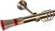 Карниз для штор АС ФОРОС Grace D25Г составной + наконечники Люксор красный (2.8м, антик) -
