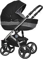 Детская универсальная коляска Riko Brano 3 в 1 (Silver Black) -