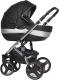 Детская универсальная коляска Riko Brano Ecco 3 в 1 (Silver/Black) -