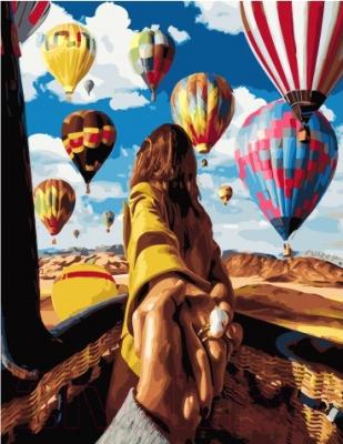 Картина по номерам Picasso Иди за мной! Воздушные шары