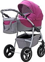 Детская универсальная коляска Riko Angelo 3 в 1 (02/розовый) -