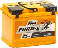 Автомобильный аккумулятор Fora-S R+ (60 А/ч) -