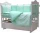 Комплект постельный в кроватку Топотушки 12 месяцев / 361/7 (бирюзовый) -