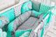 Комплект постельный в кроватку Топотушки Слоники / 676 (6 предметов) -