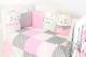 Комплект постельный в кроватку Топотушки Китти / 688/1 (розовый) -