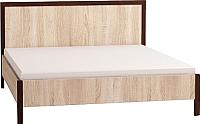 Каркас кровати Глазов Bauhaus 2 160x200 (дуб сонома/орех шоколадный) -