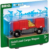 Элемент железной дороги Brio Грузовой вагончик с золотом / 33938 -