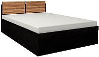 Двуспальная кровать Глазов Hyper 1 180x200 (венге/палисандр темный) -