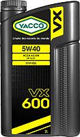 Моторное масло Yacco VX 600 5W40 (2л) -