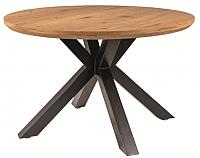 Обеденный стол Signal Ritmo 120 (дуб/черный матовый) -