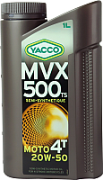 Моторное масло Yacco MVX 500 TS 4T 20W50 (1л) -