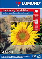 Пленка для ламинирования Lomond А4, 80мкм, 50л / 1302141 -