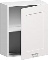Шкаф навесной для кухни Заречье Румба РБ21 (белый/фасад Weave) -