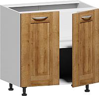 Шкаф-стол кухонный Заречье Румба РБ27 (белый/дуб ривьера) -