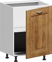Шкаф-стол кухонный Заречье Румба РБ28 (белый/дуб ривьера) -