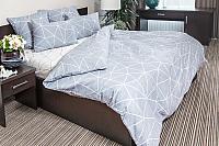 Комплект постельного белья Ночь нежна Грань Стандарт Евро 70x70 / 7352-2+7353-1 (серый) -