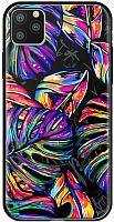 Чехол-накладка Deppa Glass Case для iPhone 11 Pro Max / 87266 (листья) -