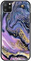 Чехол-накладка Deppa Glass Case для iPhone 11 Pro Max / 87270 (фиолетовый агат) -