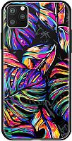 Чехол-накладка Deppa Glass Case для iPhone 11 Pro / 87252 (листья) -