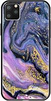 Чехол-накладка Deppa Glass Case для iPhone 11 Pro / 87256 (фиолетовый агат) -