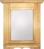 Полка для бани СаунаОпт С зеркалом -
