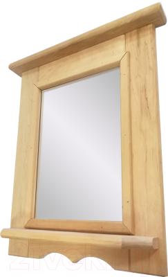 Полка для бани СаунаОпт С зеркалом