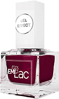 Лак для ногтей E.Mi Ультрастойкий лак Gel Effect Бургундское вино №027 (9мл) -