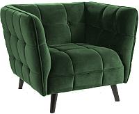 Кресло мягкое Signal Castello Velvet 1 (Bluvel78 зеленый) -
