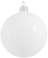 Елочная игрушка Orbital Шар 200-026-1 (8см, белый/эмаль) -