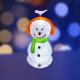 Светодиодная фигура 3D Neon-Night Снеговик в наушниках 513-331 -