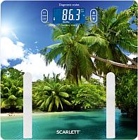 Напольные весы электронные Scarlett SC-BS33ED12 (Palms) -