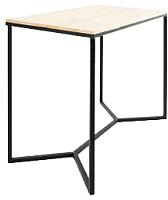 Обеденный стол Грифонсервис Loft СМ11 (черный/бесцветный лак) -