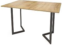 Обеденный стол Грифонсервис Loft СМ12 (черный/орех) -