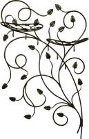 Вешалка для одежды Грифонсервис ВШ10 (черный в золоте) -