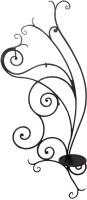 Вешалка для одежды Грифонсервис ВШ11 (черный в золоте) -