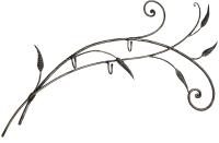 Вешалка для одежды Грифонсервис Веточка ВШ13 (черный в золоте) -
