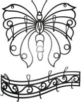 Вешалка для одежды Грифонсервис Бабочка ВШ15 (черный в золоте) -