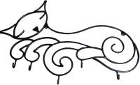 Вешалка для одежды Грифонсервис Кошка ВШ20 (черный в золоте) -