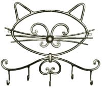 Вешалка для одежды Грифонсервис Кот ВШ21 (черный в золоте) -