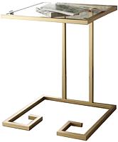 Приставной столик Грифонсервис Loft СМ18 (золото/тик) -