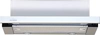 Вытяжка телескопическая Elikor Интегра Glass 45Н-400-В2Д (нержавеющая сталь/стекло белое) -