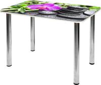 Обеденный стол Алмаз-Люкс СО-Д-01-26 (орхидея с камнями) -