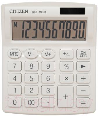 Калькулятор Citizen SDC-810 NRWHE (белый)