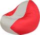 Бескаркасное кресло Flagman Classic К2.1-38 (белый/красный) -