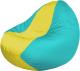 Бескаркасное кресло Flagman Classic К2.1-41 (желтый/бирюзовый) -