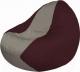 Бескаркасное кресло Flagman Classic К2.1-43 (серый/бордовый) -