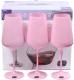 Набор бокалов Bohemia Crystal Sandra Pink 40728/D5123/450 (6шт) -