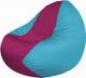 Бескаркасное кресло Flagman Classic К2.1-55 (фуксия/голубой) -